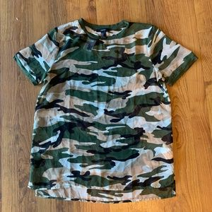 Women's Sheer Camo Top